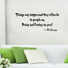Dr. Seuss Bedroom Living Room Quote Decor Wall Decals Quote Wall Stickers W37