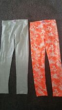 Leggings 7-8yrs grigio e arancione F&F
