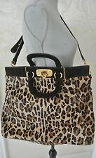 0a078b26da33 Authentic PRADA Cavallino Frame Animal Print Handbag 16.5 x 14 x 7 in,14 in