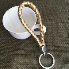 Fashion Braided PU Leather Strap Keyring Keychain Car Key Chain Ring Key Fob