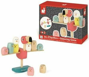 JANOD FLAMINGO BALANCING GAME WOODEN TOY GREAT GIFT ZIGOLOS SUITABLE 3-6 MONTHS
