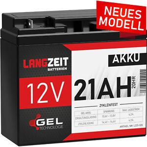 Akku 12V 21Ah GEL Bleiakku USV Batterie Gelakku 17Ah 18Ah 19Ah 20Ah 22Ah Accu
