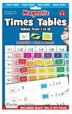 Times Tables Magnetic Activity Chart with white board, pen & 144 pieces