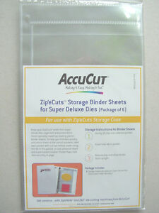 AccuCut Zip'e Cuts 6 Storage sheets Aufbewahrung for Super Deluxe Dies