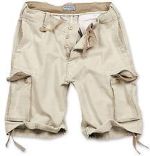 Excedentes Vintage Shorts hombre estilo militar Militar 100% Algodón Lavado