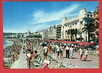 NICE ITALY PROMENADE DES ANGLAIS PEOPLE OLD CARS  POSTCARD