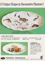 Vintage Waverly FISH & HARVEST PLATTER ad sheet #0001