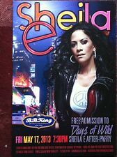 Sheila E ad/flyer  NYC BB.Kings concert notice after party May 17  2013 Melanie