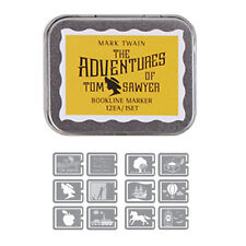 Multi-Purpose Bookmarks Paper Clip The Adventures of Tom Sawyer Set of 12