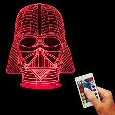 3D USB Star Wars Darth Vader Color Changing Lamp LED Bulbing Desk Night Light