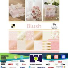 "DCWV®️Blush Premium Stack Cardstock Paper (48 SHEETS) 12""X12""  PS-016-00037"