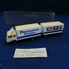 Praline HO 1/87 Scale - Pampers Phases Tractor Trailer in Plastic Box - SEE PICS