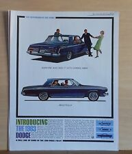 1962 magazine ad for Dodge - Get Carried Away by 1963 Dodge, list of Features