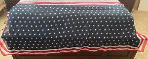 American Flag Stars & Stripes Table Runner 34 x 72, Sheer. From Target.
