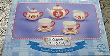 Raggedy Ann and Andy Tea Set New in Box by Applause Dishwasher & Microwave Safe