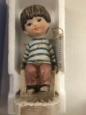 "Gorham Moppets 1971 Boy Sitting on Bench ""I Thought About You."" New in Box"