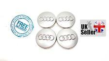 4 x Audi Centro Tapas 60mm Aleación Rueda Centro insignias se adapta a A4, A3, A6, A7, A8 TT