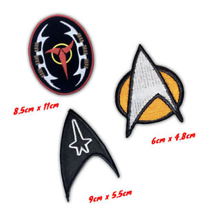 Star Trek Movies uniform badges Iron or Sew on Embroidered Patch