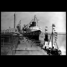 Photo B.000737 PAQUEBOT SS NORMANDIE CGT FRENCH LINE LE HAVRE 1935 OCEAN LINER