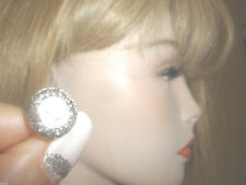 NICE ANTIQUE 1.5 CT RADIANT OLD MINE ROSE CUT DIAMOND STUDS 14K GOLD EARRINGS