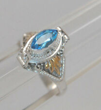 BLUE TOPAZ CREMATION URN RING URN RING 7.5 SILVER CREMATION JEWELRY MEMORIAL