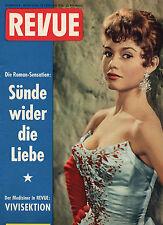 Top-Rarität Zeitschrift REVUE Nr. 8 von 1956, Cover Brigitte Bardot, gut. Zust.