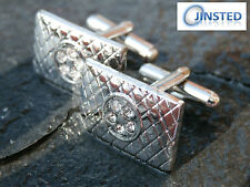 Unbranded Stainless Steel Square Cufflinks for Men