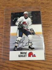1988 ESSO NHL ALL-STAR COLLECTION MICHEL GOULET STAMP STICKER FRENCH ENGLISH