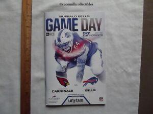 Sept 25 2016 Buffalo Bills Game Day Program v Arizona Cardinals Richie Incognito
