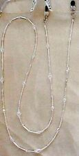 BLING EYEGLASS CHAIN  MADE WITH SWAROVSKI CRYSTALS ! CHAIN ONLY SILVER OR GOLD !