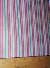 "4 Yards 54""wide MULTI-COLOR MINI STRIP COTTON FABRIC~PILLOWS~VALANCES~SHADES"