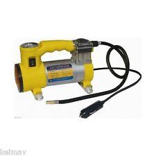 12V Portable Heavy Duty Car Air Compressor (Yellow)