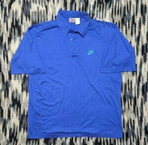 Vintage Nike Short Sleeve Collared T Shirt Mens Large VTG 90s Blue