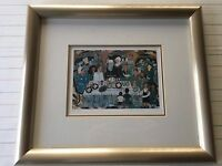 """Ilan Hasson Limited Edition Lithograph Print """"The Seder"""", Framed, Signed, 94/300"""