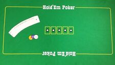 LARGE  TEXAS HOLD EM / POKER FELT - NEW THICK BAIZE LAYOUT + CARDS AND 3 xBLINDS