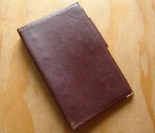 Vintage Made In USA Burgundy Leather 6 Ring Organizer Planner