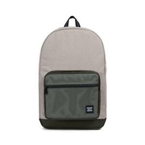 NEW Herschel Aspect Pop Quiz Backpack - Light Khaki Crosshatch/Forest Night