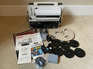 Eumig Mark S 102 Super-8 Single-8 Sound Projector With Accessories Reels In Box