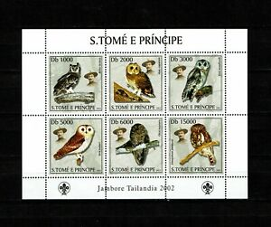 St. Thomas and Prince Islands 2003 - Owls, Baden-Powell, Scout Jamboree - mnh