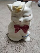 shawnee pottery Puss In Boots Collectable cookie jar circa 1940's no cracks