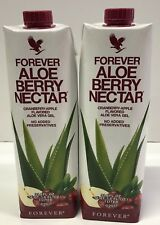 2 Pack Piezas Forever Living Aloe Berry Nectar 1 Liter FREE SHIPPING!