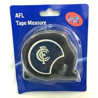 CARLTON BLUES AFL OFFICIAL FOOTY 8m TAPE MEASURE BUILDERS MEASURING TAPE