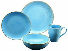 Serie Nature Mediterran Geschirrset Single Set Blue Azurblau Creatable 19991 GB