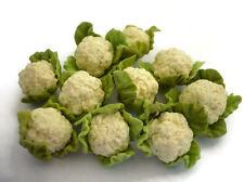10 Loose Cauliflower  Vegetables Dollhouse Miniatures  Kitchen Grocers
