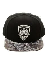 OFFICIAL GUARDIANS OF THE GALAXY CREST BLACK SNAPBACK CAP WITH PRINTED VISOR