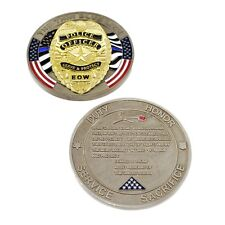 Trump Fallen Officer Memorial Challenge Coin Police Thin Blue Line Mourning 2020