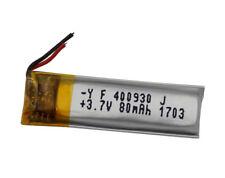 3.7 V 80 mAh batteria Li Polimero Lipo per cuffie Bluetooth Penna SAT NAV 400930