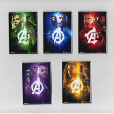 """AVENGERS INFINITY WAR / SET OF FIVE - 2""""x3"""" MOVIE POSTER MAGNETS (stones marvel)"""