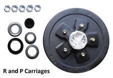 "10""x 2.2"" Trailer Axle brake hub drum 3500# Axel 5x4.5"" Camper ALKO Fits Dexter"