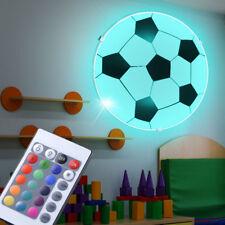 RGB LED Decken Leuchte Jungen Spiel Zimmer Fußball Dimmer Wand Glas Lampe rund